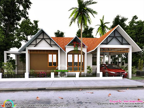 Superb single floor home in Kerala