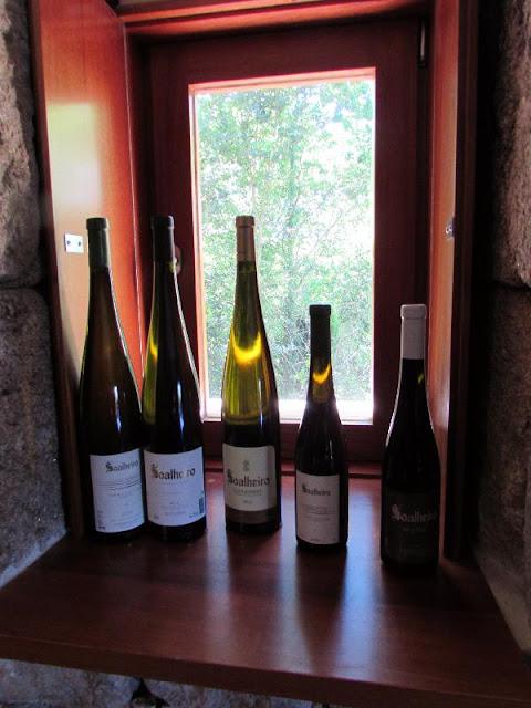 garrafas de vinho da Quinta de Soalheiro