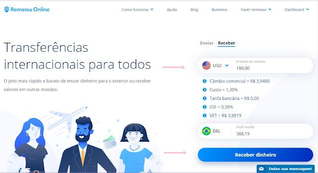 Remessa Online para receber pagamento do adsense