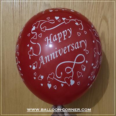 Balon Latex Print HAPPY ANNIVERSARY