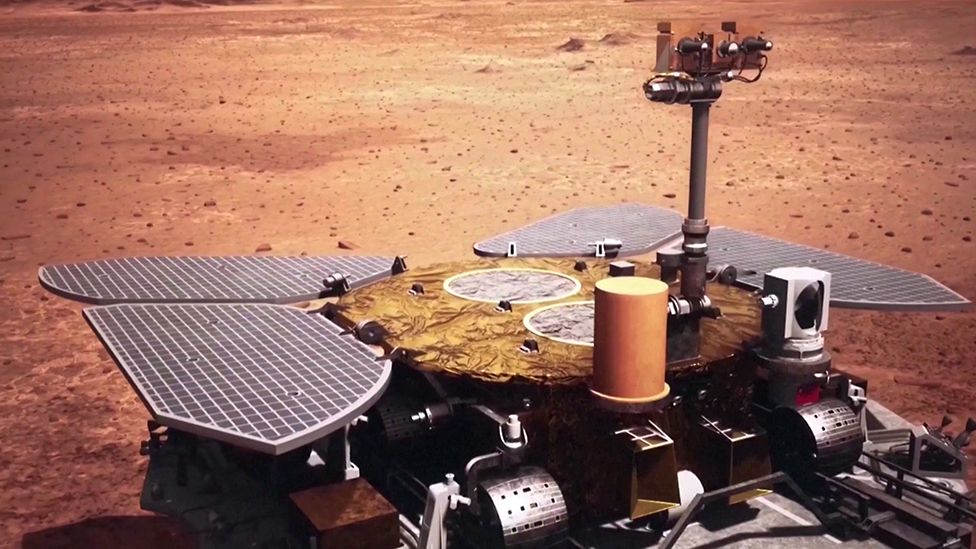 China Successful Lands Its Zhurong Rover On Mars