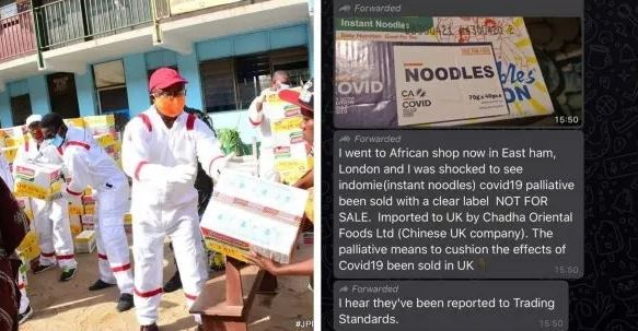 COVID-19 Palliatives From Nigeria Is Reportedly Being Sold In London