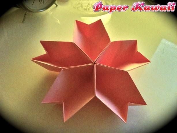 Origami Maniacs: Origami Cherry Blossom Dish - photo#25