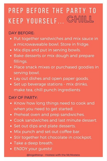 Things to prep before the party to keep yourself chill! | bigpittstop.com