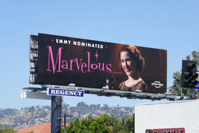 Marvelous Mrs Maisel s2 Emmy Nom billboard