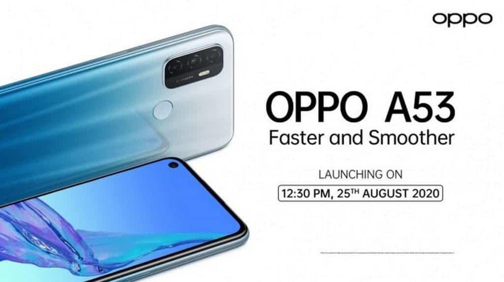 تاريخ  كشف عن هاتف OPPO A53 في الهند