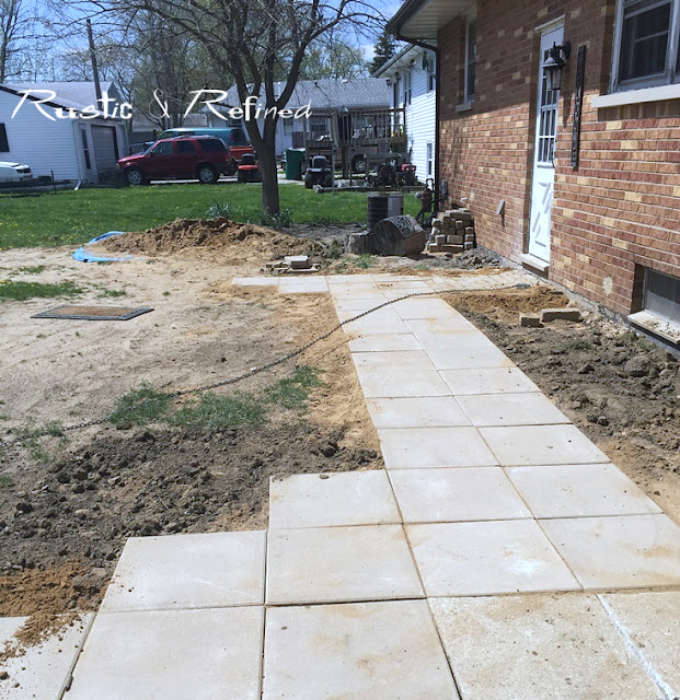 Using large concrete pavers for a diy sidewalk project