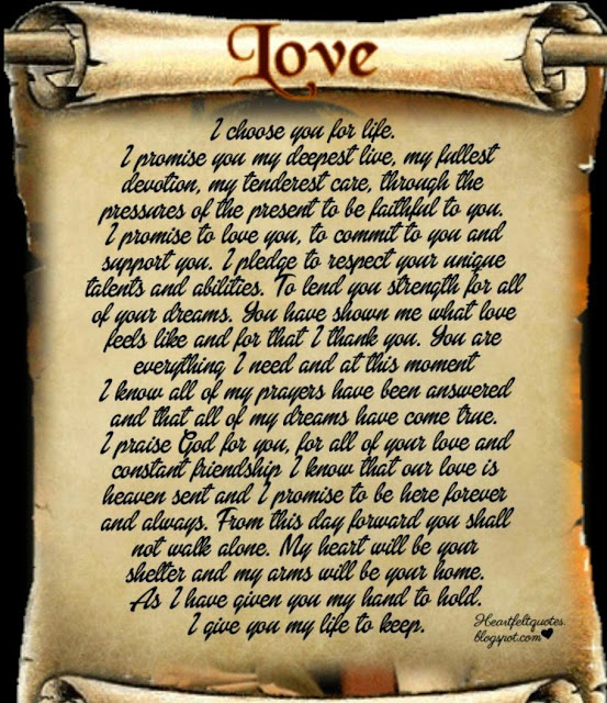 I Promise To Love You Forever Heartfelt Love And Life Quotes
