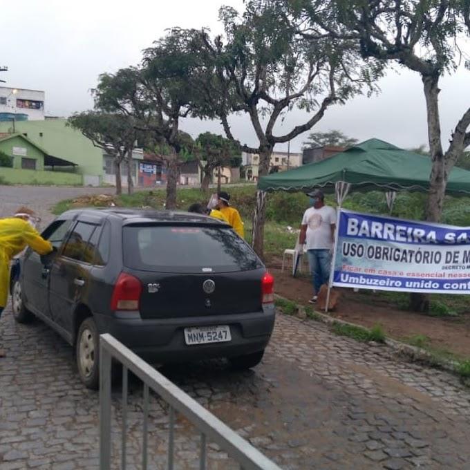 COVID-19: Prefeitura de Umbuzeiro instala Barreiras Sanitárias nas 3 entradas da cidade