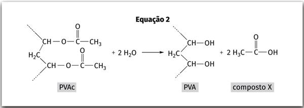 PVAc PVA composto X