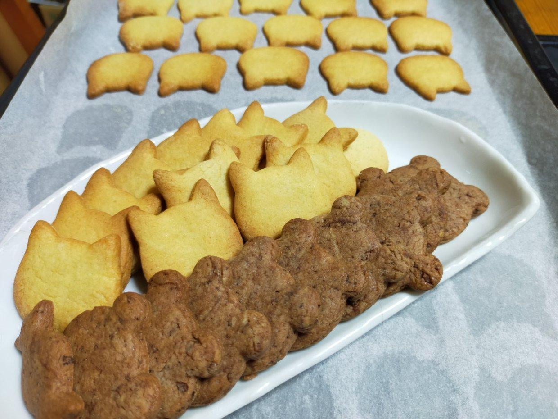 娘の手焼きクッキー。