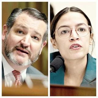AOC y Ted Cruz discuten sobre quien sabe mas de Ciencia en Twitter