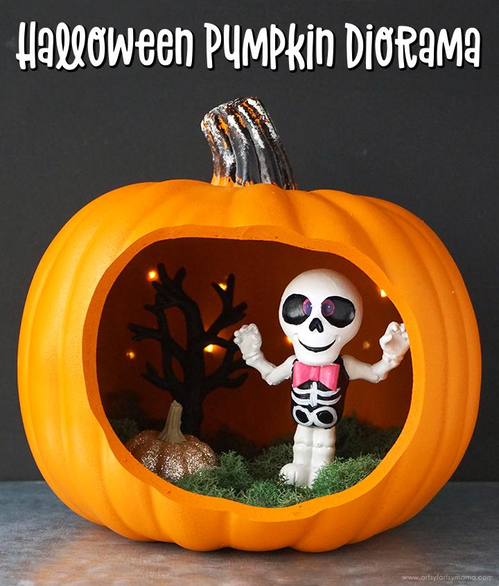 Halloween Pumpkin Diorama