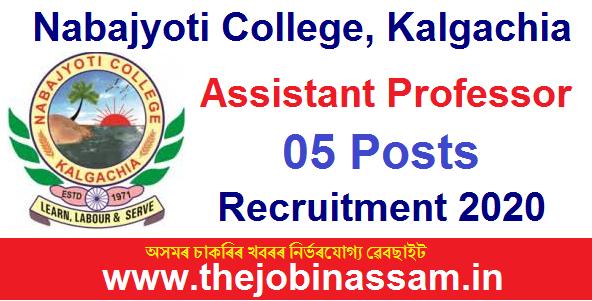 Nabajyoti College, Kalgachia Recruitment 2020