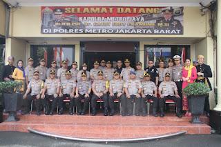 Kapolda Metro Jaya Kunjungan kerja, Apresiasi Polres Jakarta Barat