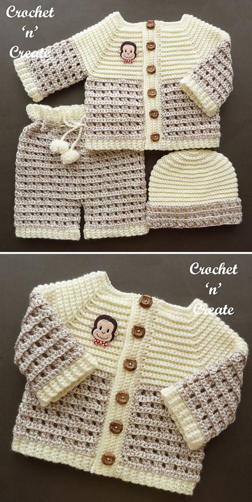 Smarty Pants Baby Set - Free Pattern