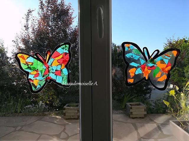 || Nos activités sur les papillons : Vitrail