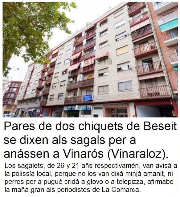 Pares de dos chiquets de Beseit se dixen als sagals per a anássen a Vinarós (Vinalaroz)