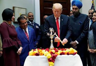 America-President-Trump-Celebrates-Diwali-In-U-S