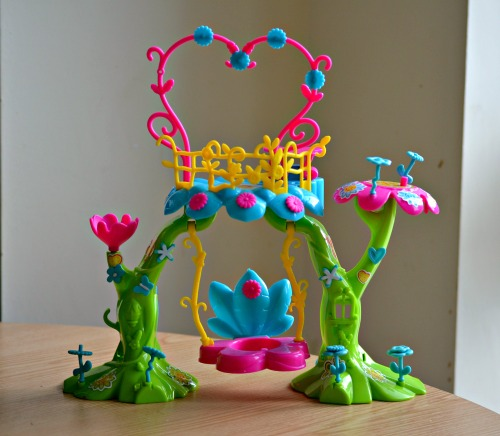 Pinypons fairy castle put together with stickers on