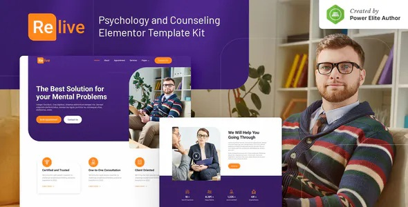 Best Psychology and Counseling Elementor Template Kit