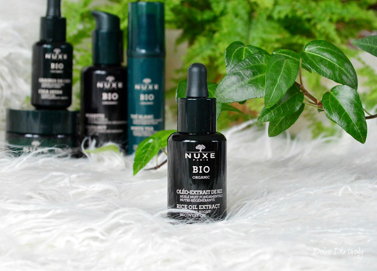Nuxe Bio olejek odżywczy na noc Olej Ryżowy