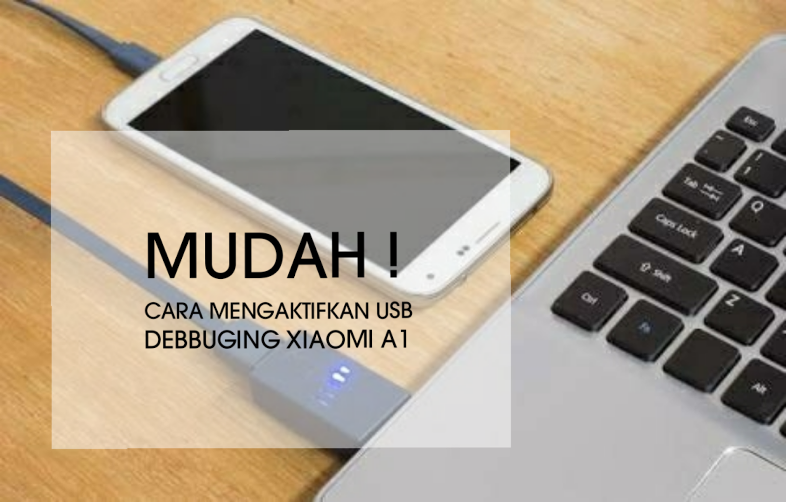 Cara mengaktifkan USB debbuging Xiaomi A1
