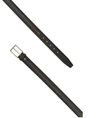 Cinturon negro de piel de la marca Timberland para hombre