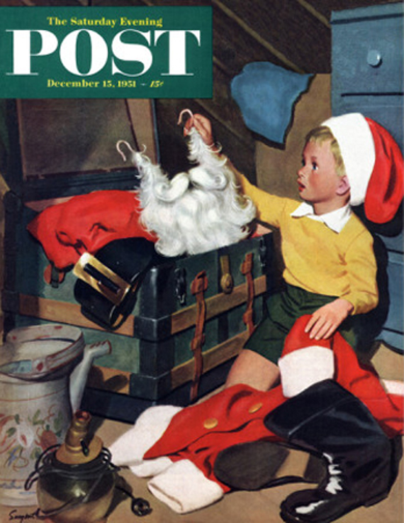 Christmas Saturday Evening Post vintage covers, Richard Sargent