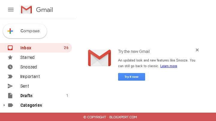 probar nuevo diseño gmail 2018