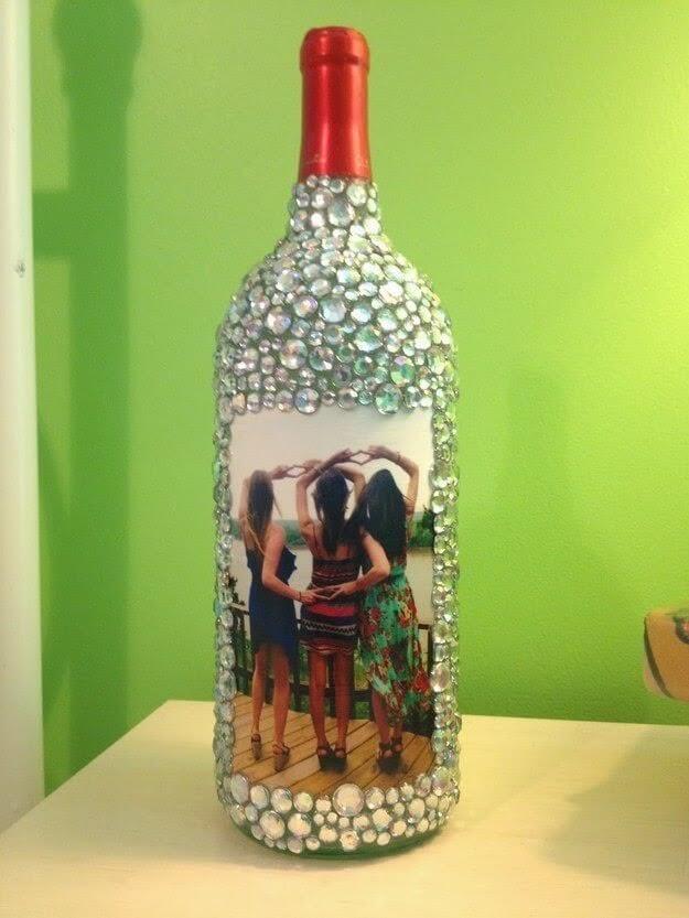 Kerajinan bingkai foto dari Botol Bekas