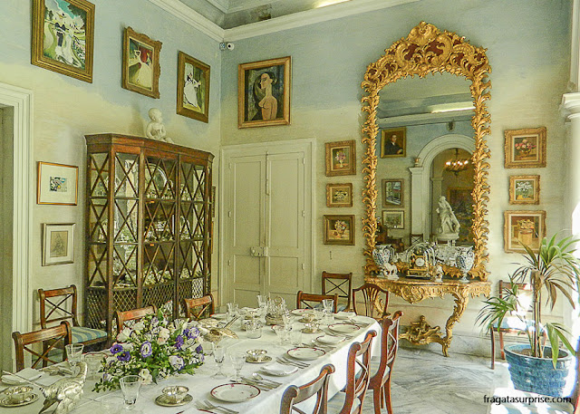 Sala de Jantar da Casa Rocca Piccola, em Valeta, Malta