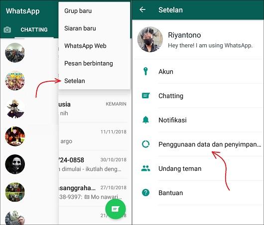 Cara Menonaktifkan Auto Download Video/Foto di WhatsApp
