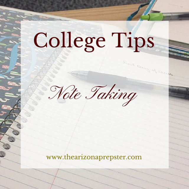 College Tips: Note Taking