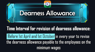 Time period for the Central Government Dearness Allowance revision