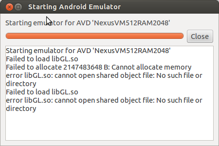 Arche @ Interface101: Failed to load libGL so when running Android