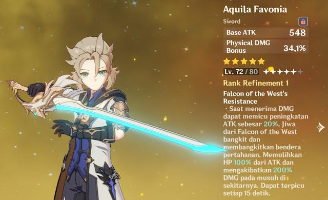 senjata albedo genshin Impact