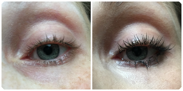 Seventeen long lash mascara before and after
