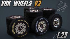 V8K Scania Michelin Wheels v3 for all trucks