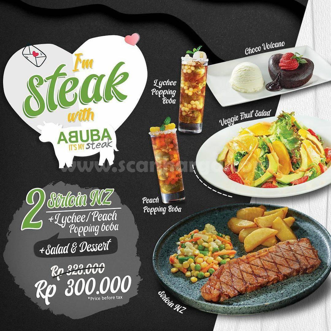Promo ABUBA STEAK Terbaru! Periode 10 - 16 Februari 2021