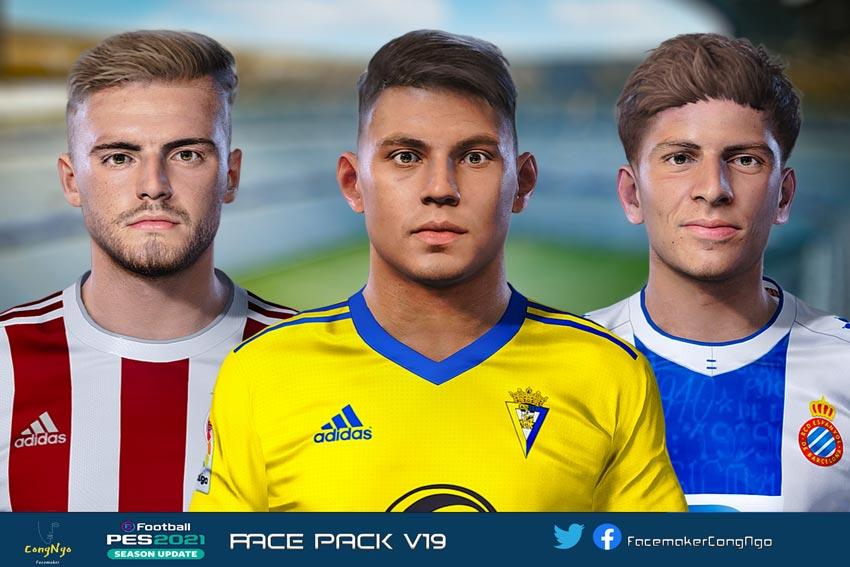 Facepack V19 2021 For eFootball PES 2021