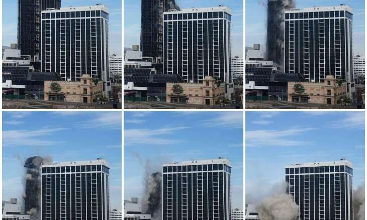 In video, Trump's hotel turns into rubble seconds after its destruction