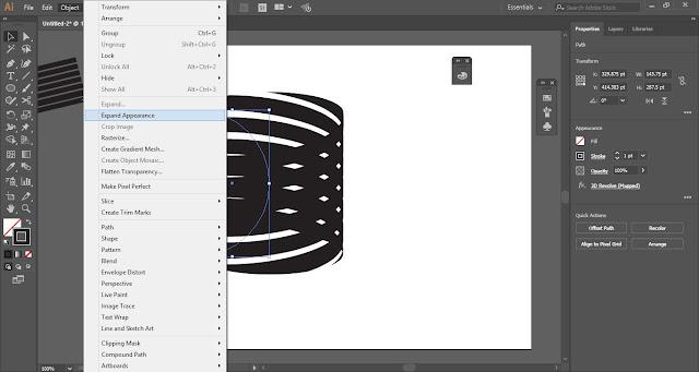 Spiral Ribbon in Adobe Illustrator