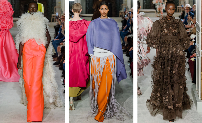 Diverse casting at Valentino Couture 2019