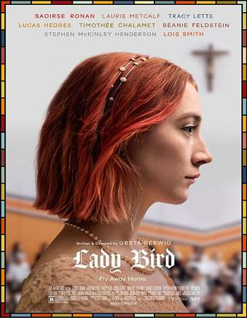 Poster Of Free Download Lady Bird 2017 300MB Full Movie Hindi Dubbed 720P Bluray HD HEVC Small Size Pc Movie Only At worldfree4u.com