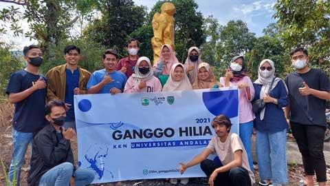 Mahasiswa KKN Unand di Nagari Ganggo Hilia