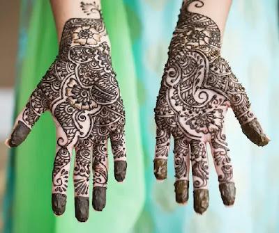 Spacing Mehandi Design