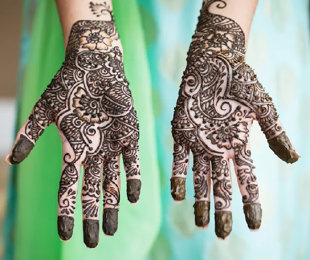 Spacing Mehandi Design