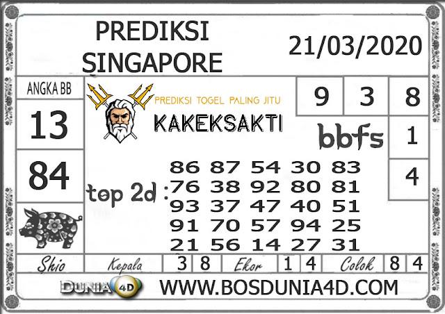 Prediksi Togel SINGAPORE DUNIA4D 21 MARET 2020