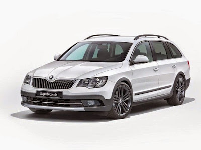 2015 Skoda Superb Front View Model